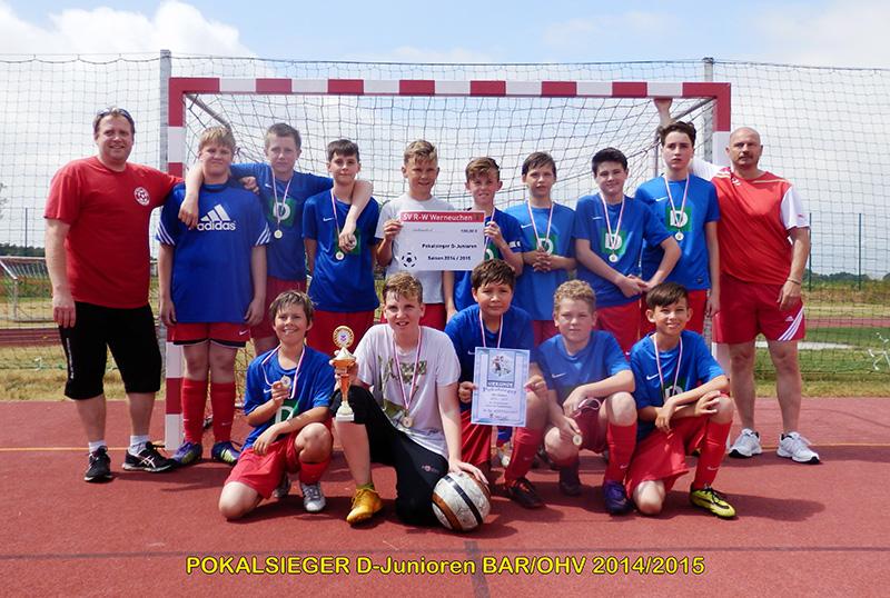 RW Werneuchen/D-Junioren Pokalsieger 2014/15