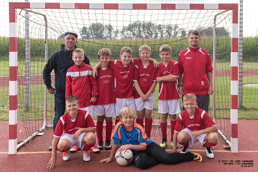 Mannschaftsfoto E1-Junioren Fußball RW WER