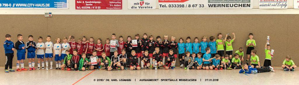 F-Junioren-Mannschaftensbild | Hallenturnier 2018