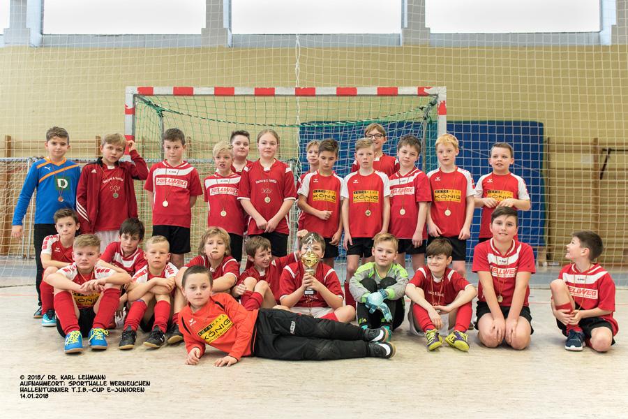 Siegerehrung Hallenfußballturnier E-Junioren 2018