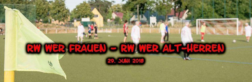 Header Freundschaftsspiel RW WER Frauen - Alt-Herren