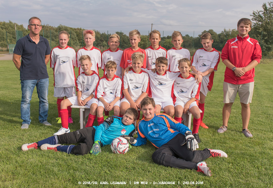 Mannschaftsfoto D-Junioren 2018/19