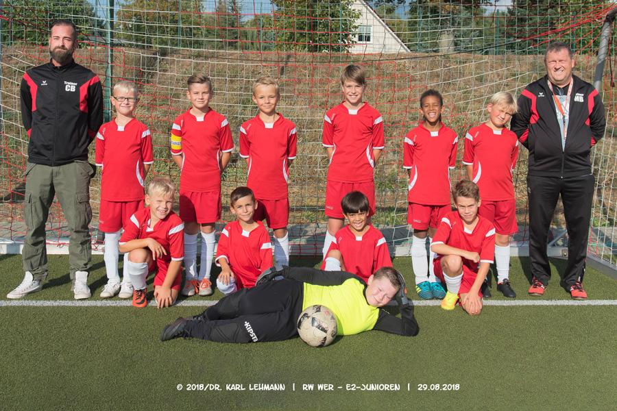 Mannschaftsfoto E2-Junioren 2018/19